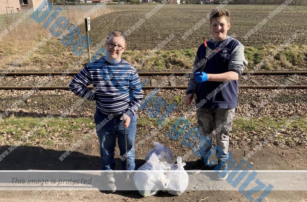 Klasse 6b setzt sich für saubere Umwelt ein