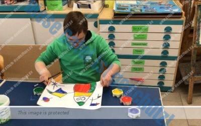 Spanischer Künstler Miro im Kunstunterricht